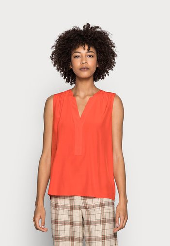 BLOUSE - Top - orange red