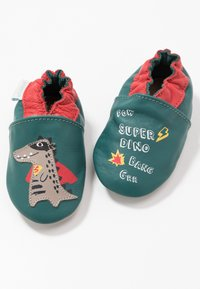 Robeez - SUPER DINO - First shoes - vert/fonce/rouge - 6