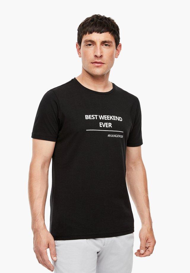 MIT STATEMENT-PRINT - T-shirt imprimé - black