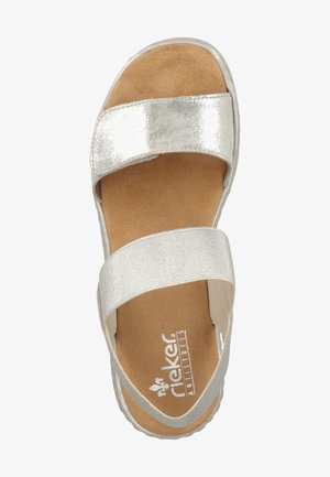 Wedge sandals - silver/frost 90