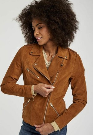 MENL - Leather jacket - brown