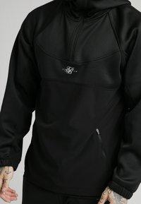SIKSILK - TRANQUIL QUARTER ZIP - Camiseta de manga larga - black - 4