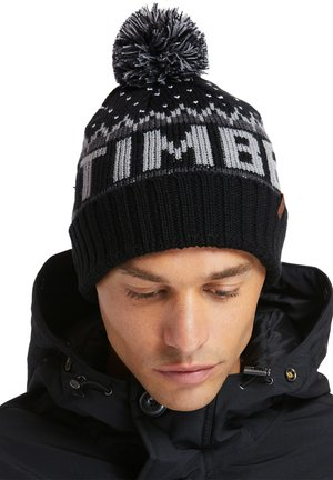 LOGO CUFFED POM HAT POMEGRANATE - Gorro - black