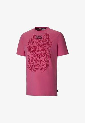 Print T-shirt - bubblegum