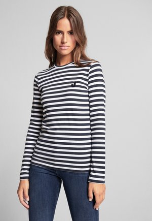 TESSA - Long sleeved top - navy/weiß