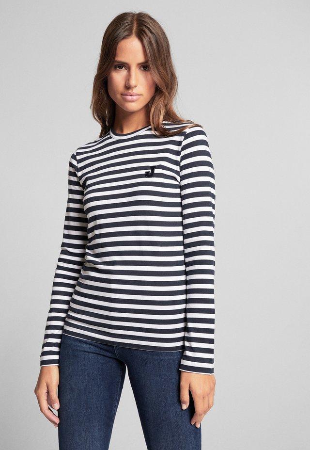 TESSA - Long sleeved top - navy/weiß