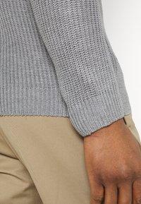 Brave Soul - GREENFORDA - Stickad tröja - silver grey marl - 5