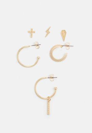 PCZIFF SOLO EARRINGS 3 PACK - Örhänge - gold colour
