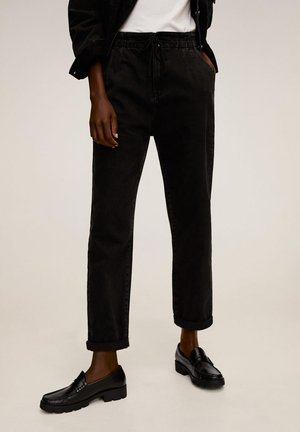 LOOSE - Broek - black denim