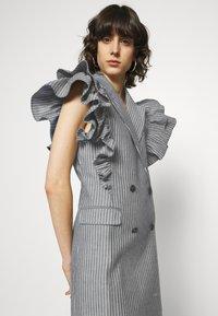 Custommade - KOBANE - Waistcoat - black/white - 3