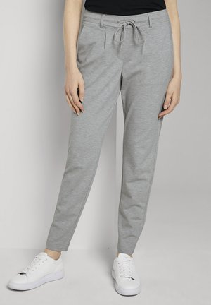 PANTS ANKLE - Tracksuit bottoms - silver grey melange