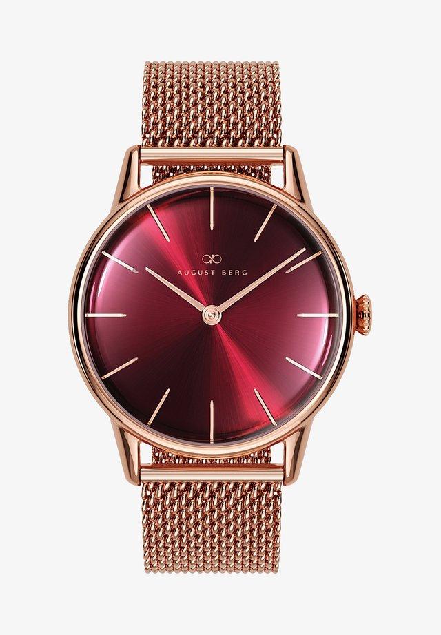 UHR SERENITY BURGUNDY MESH 32MM - Horloge - sunray red