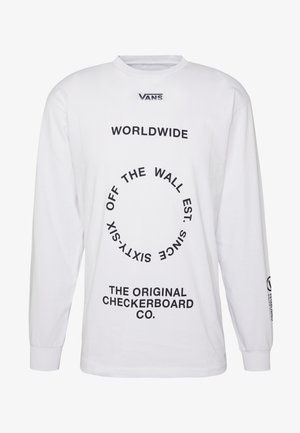 DISTORTION - Long sleeved top - white