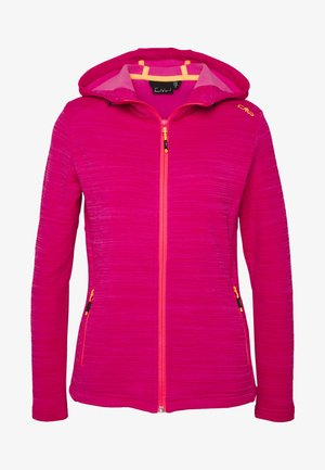 WOMAN JACKET FIX HOOD - Fleece jacket - gloss melange