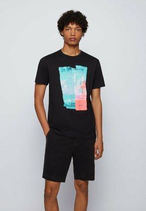 TEPASTEL - Print T-shirt - black