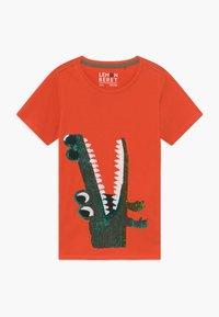 Lemon Beret - SMALL BOYS - T-shirt print - tangerine tango - 0