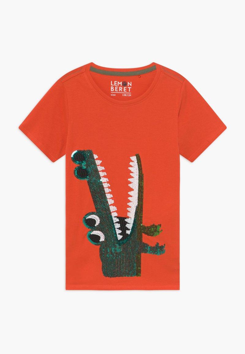 Lemon Beret - SMALL BOYS - T-shirt print - tangerine tango