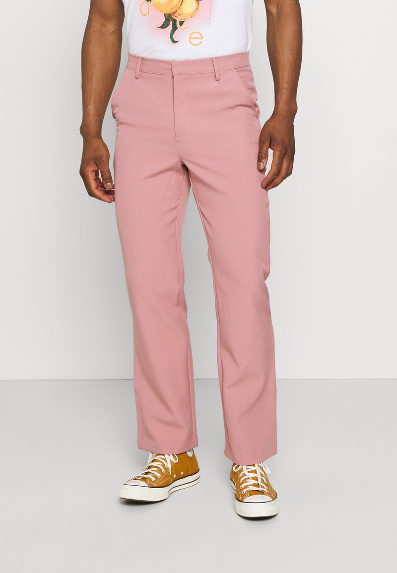 Mennace - ON THE RUN STRAIGHT LEG TAILORED TROUSER - Trousers - pink