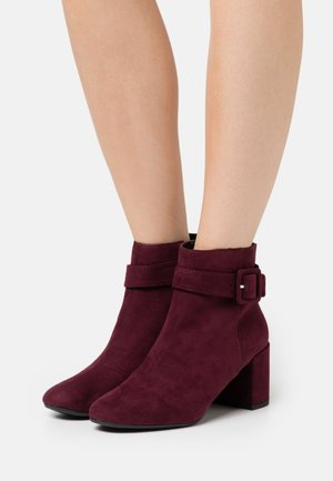 ANDI COVERED BUCKLE - Boots à talons - oxblood