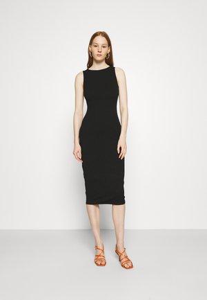 SLEEVELESS BODYCON DRESS - Jersey dress - black