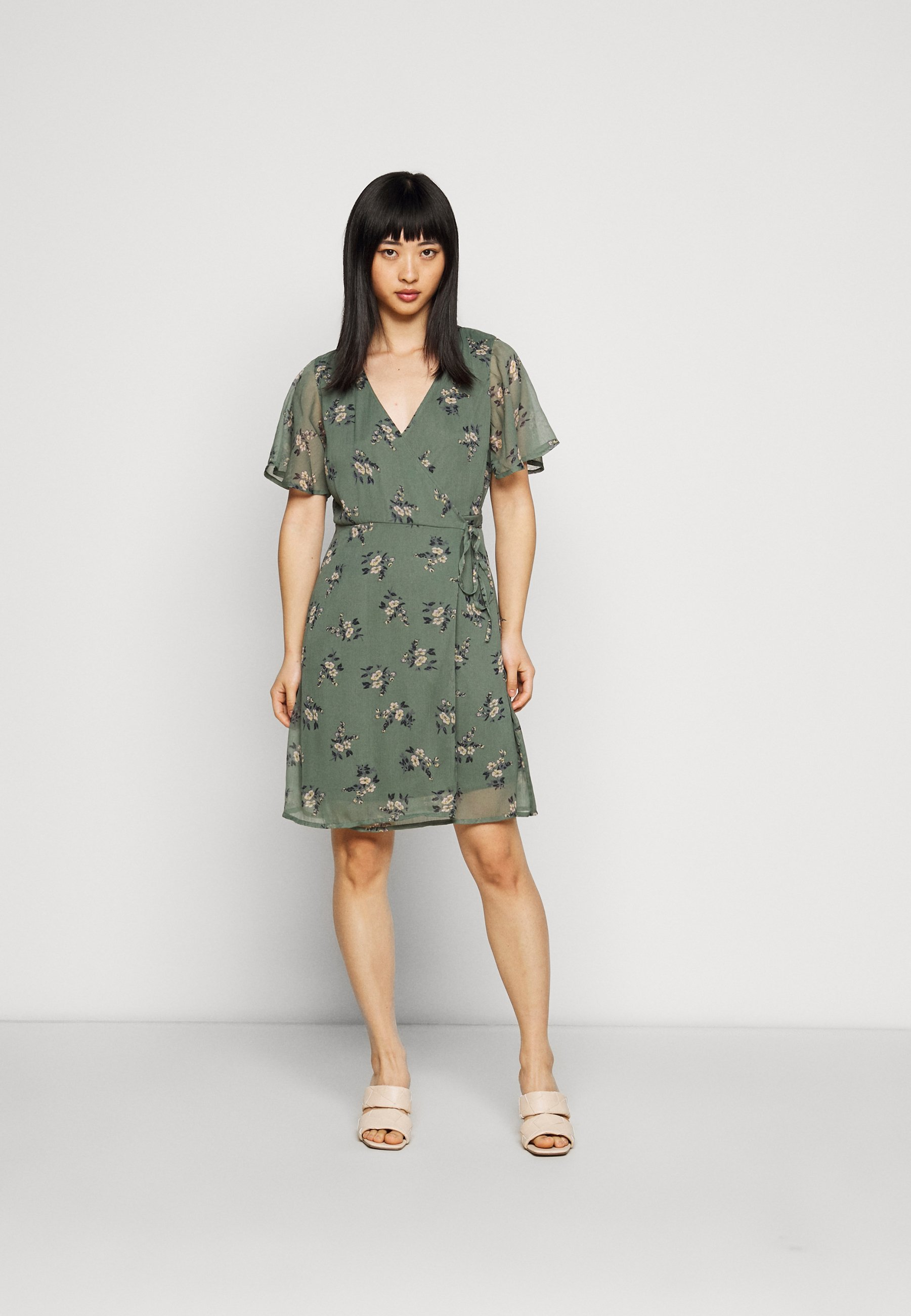 Mujer VMKAY WRAP SHORT DRESS - Vestido informal