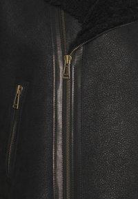 Belstaff - DENNISON JACKET ELEVATED SHEARLING - Leather jacket - black - 2