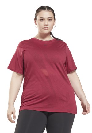 BURNOUT TEE IN - Basic T-shirt - punch berry