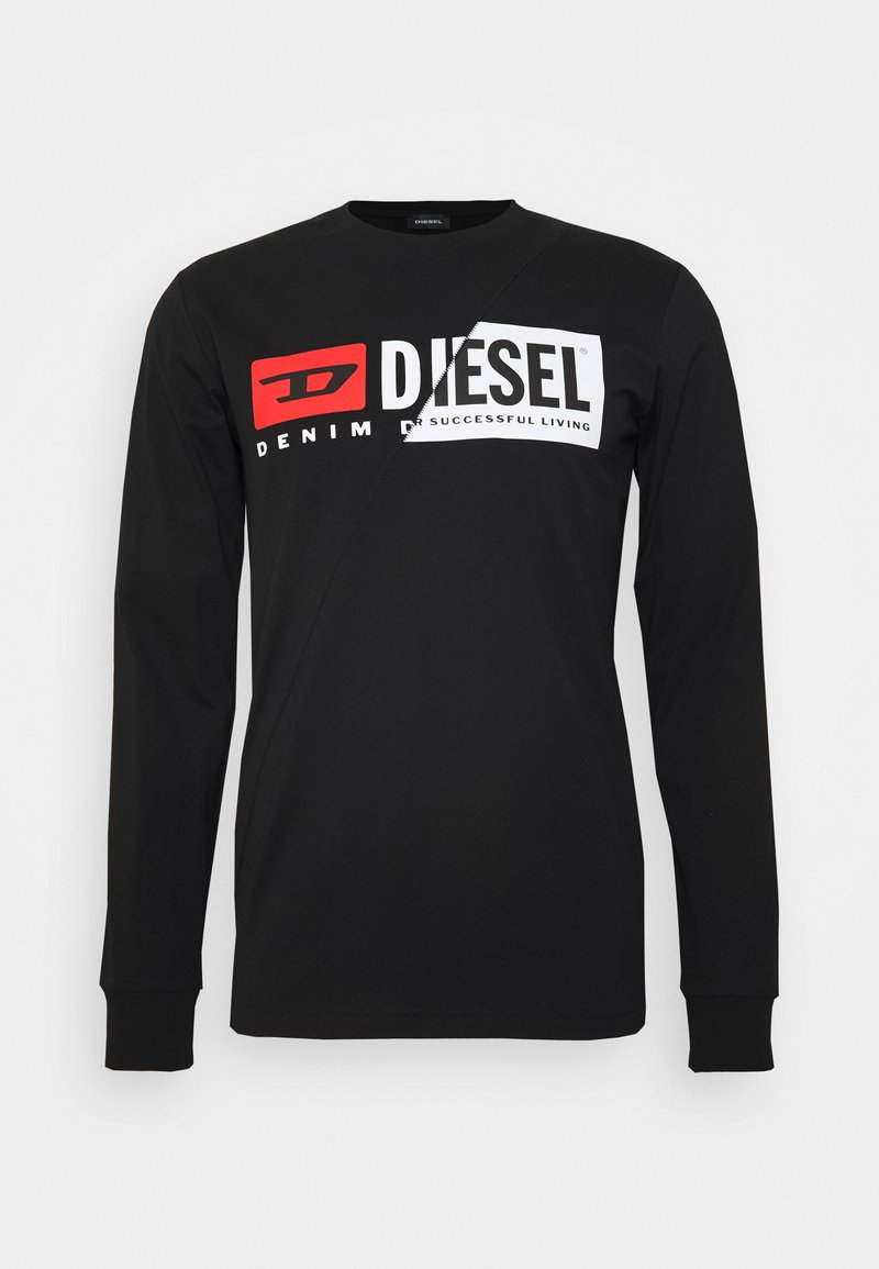 Diesel - T-DIEGO-LS-CUTY T-SHIRT - Longsleeve - black