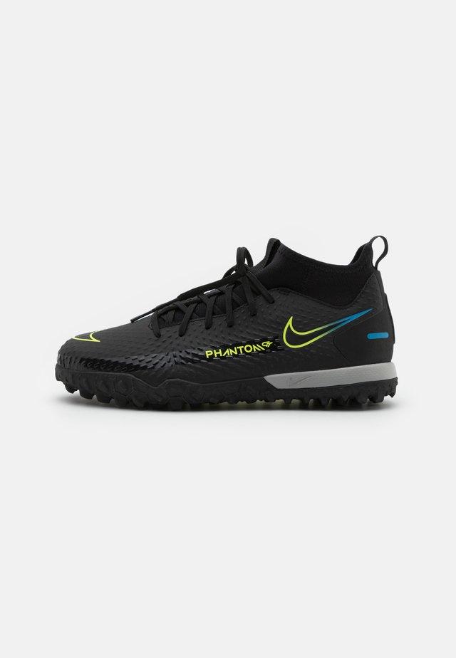 JR PHANTOM GT ACADEMY DF TF UNISEX - Chaussures de foot multicrampons - black/cyber/light photo blue