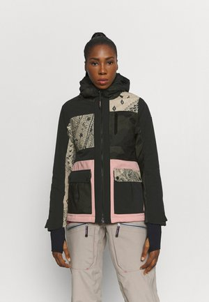 KALEI PATCHWORK WOMEN SNOWJACKET - Snowboardjas - black