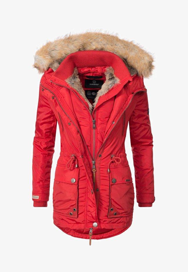 GRINSEKATZE - Winter coat - red