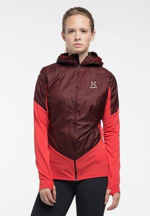 L.I.M HYBRID HOOD  - Outdoorjacke - hibiscus red/maroon red