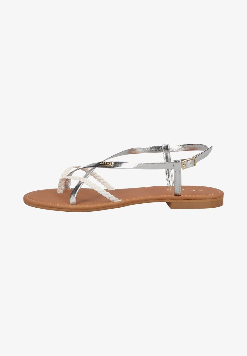 Scapa - T-bar sandals - silver