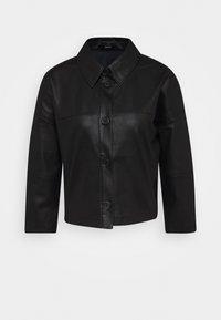 NIDA - Faux leather jacket - black
