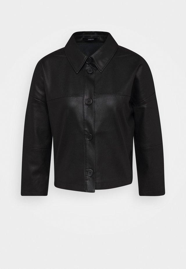 NIDA - Imitatieleren jas - black