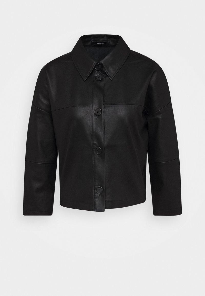 someday. - NIDA - Faux leather jacket - black