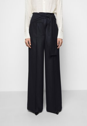 TIE WAIST TROUSER - Trousers - midnight blue