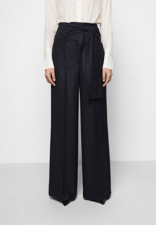 TIE WAIST TROUSER - Trousers - midnight blue