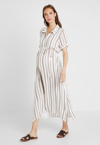 Glamorous Bloom - SHORT SLEEVE MIDI DRESS WITH BELT - Skjortekjole - white - 0