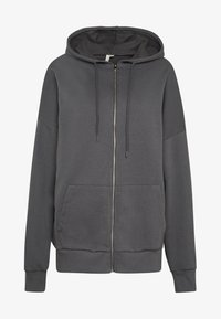 Nly by Nelly - CHUNKY ZIP HOODIE - Zip-up hoodie - offblack - 4