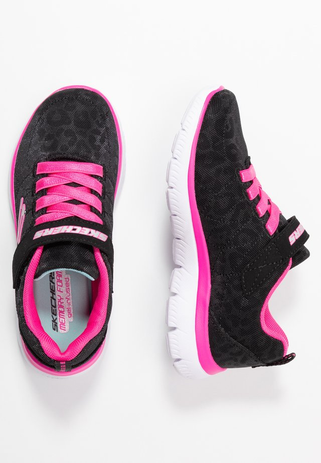 SUMMITS - Sneakers laag - black sparkle/neon pink