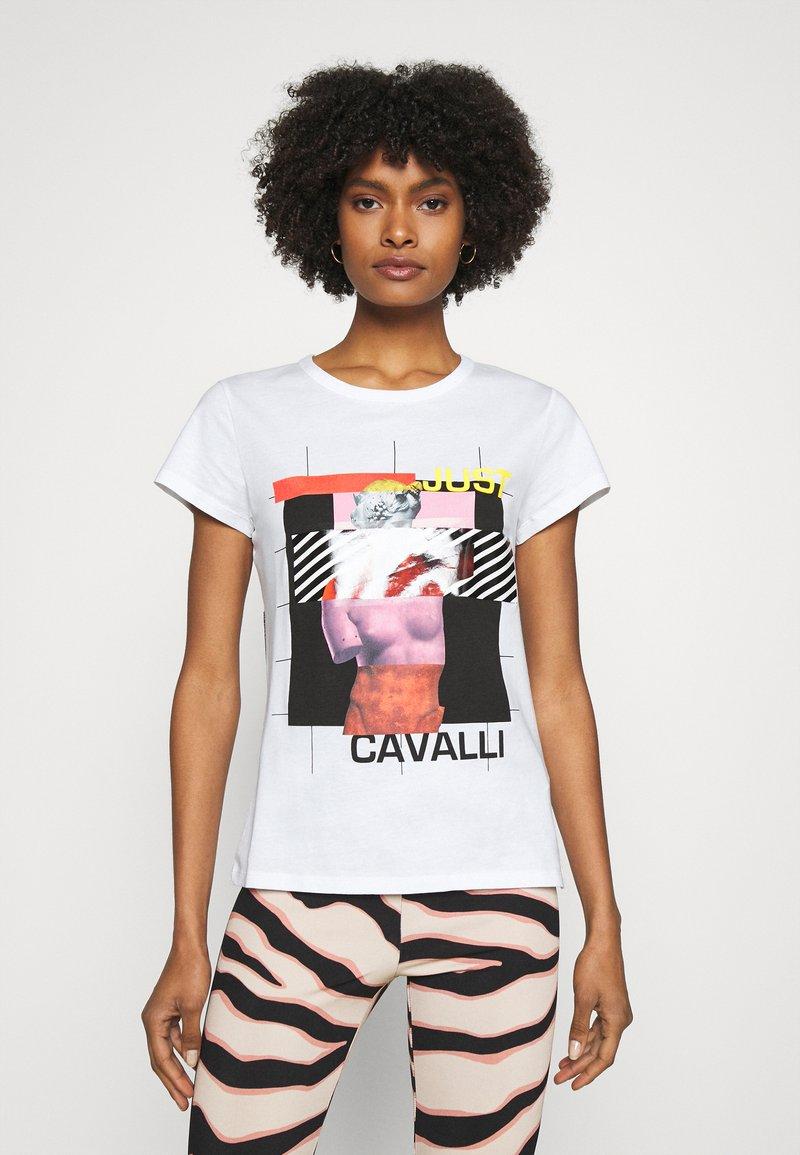 Just Cavalli - Triko spotiskem - optical white