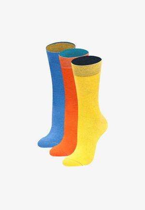 3 PACK BÄLLEBAD - Socks - gelb, hellblau, orange