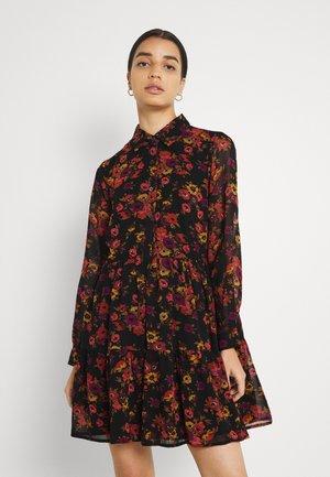 LADIES WOVEN DRESS - Day dress - windflowers black