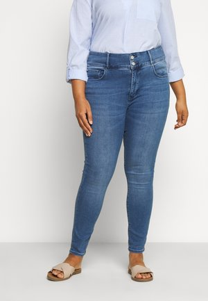 MONICA CURVE HIGH RISE ANKLE GRAZER - Jeans Skinny Fit - blue wash