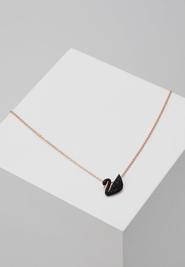 ICONIC SWAN PENDANT - Halskette - rosegold-coloured/black