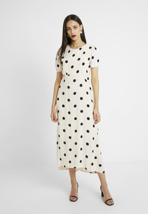 SPOT MIDI TIE SLEEVE DRESS - Day dress - offwhite
