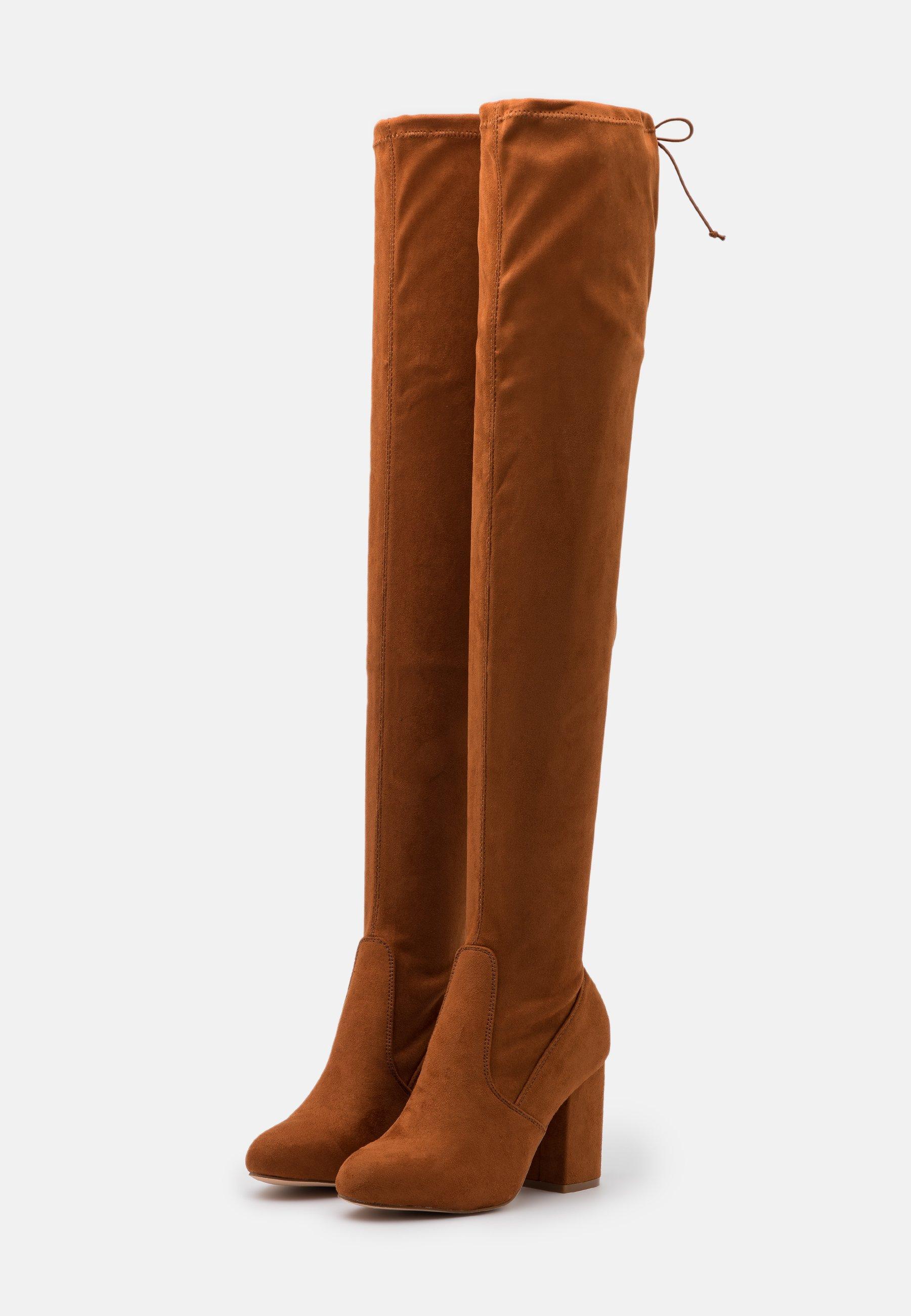 Even&Odd Wide Fit High Heel Stiefel cognac