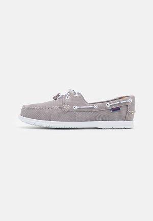 NAPLES TECH - Boat shoes - silver