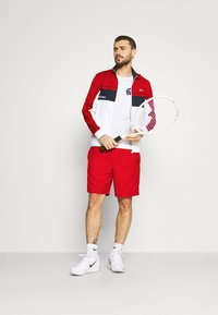 Lacoste Sport - TENNIS JACKET - Träningsjacka - ruby/white/navy blue/white - 1